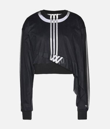 Y-3 3-Stripes Mesh Cropped Tee