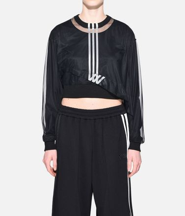 Y-3 Long sleeve t-shirt Woman Y-3 3-Stripes Mesh Cropped Tee r