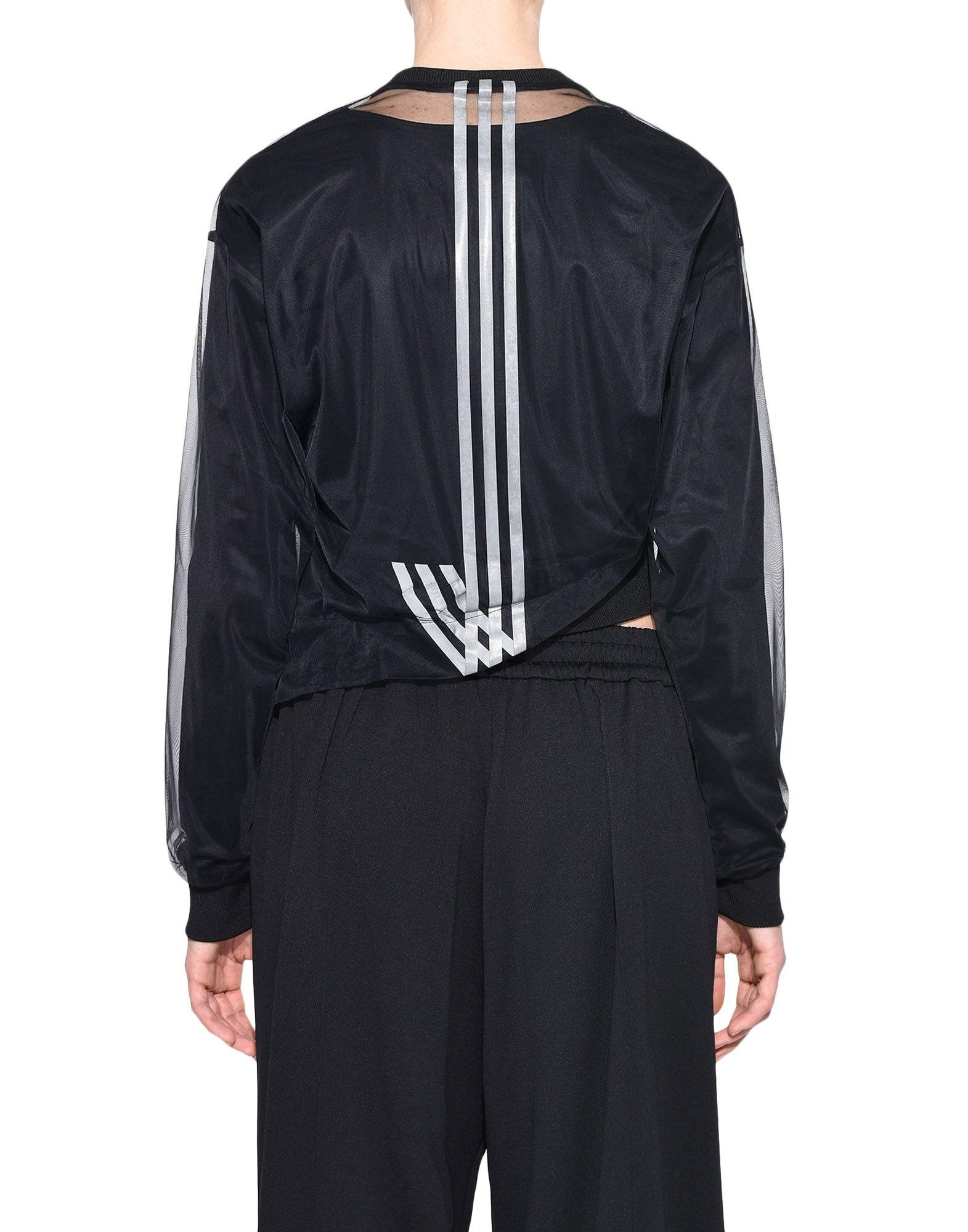 Y-3 Y-3 3-Stripes Mesh Cropped Tee Long sleeve t-shirt Woman d