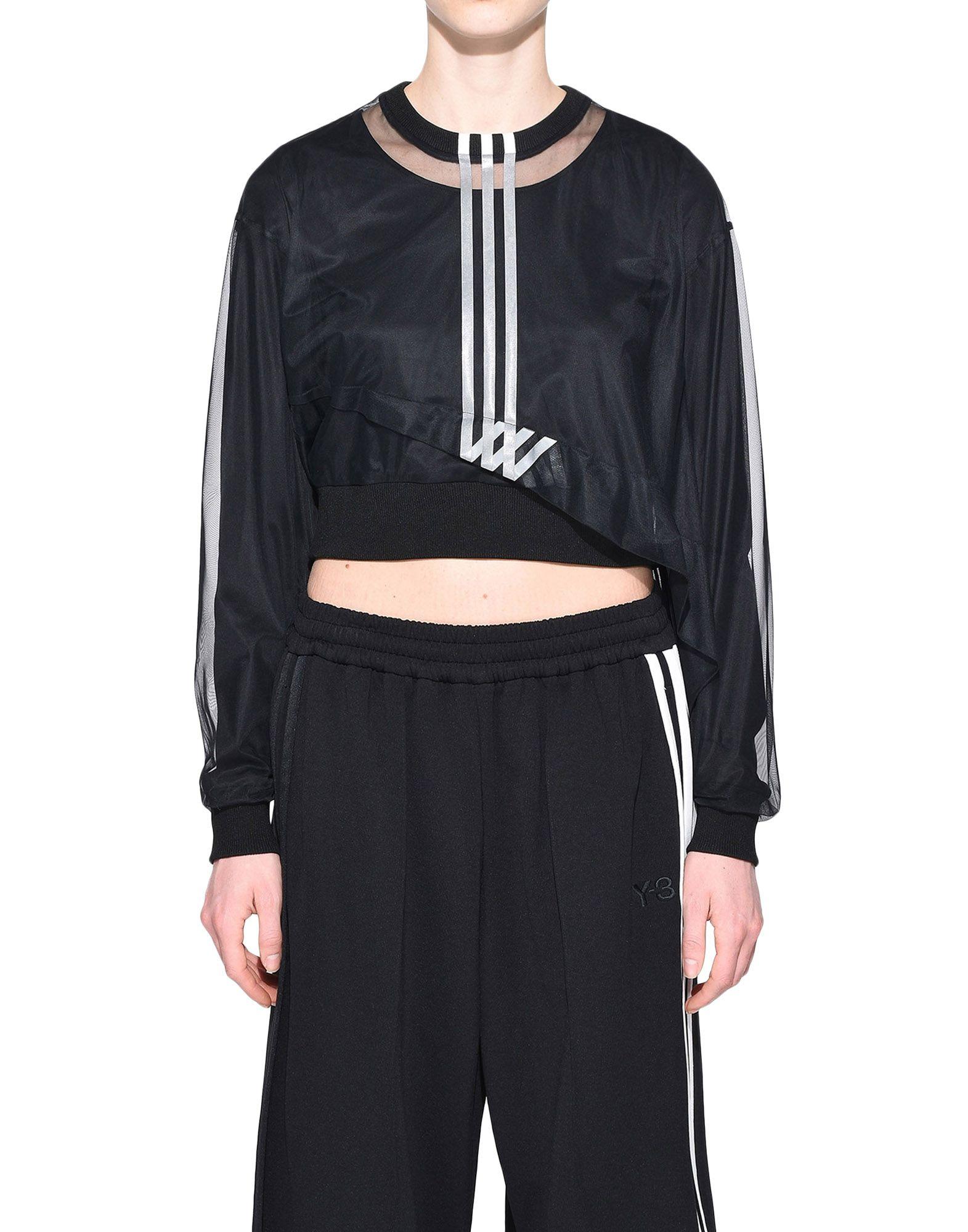 Y-3 Y-3 3-Stripes Mesh Cropped Tee Long sleeve t-shirt Woman r