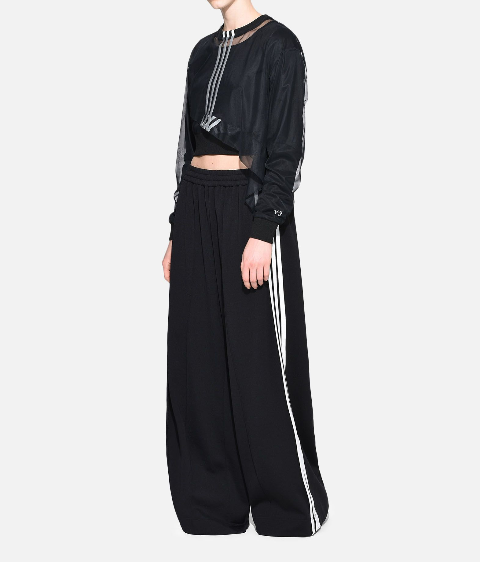 Y-3 Y-3 3-Stripes Mesh Cropped Tee Long sleeve t-shirt Woman a