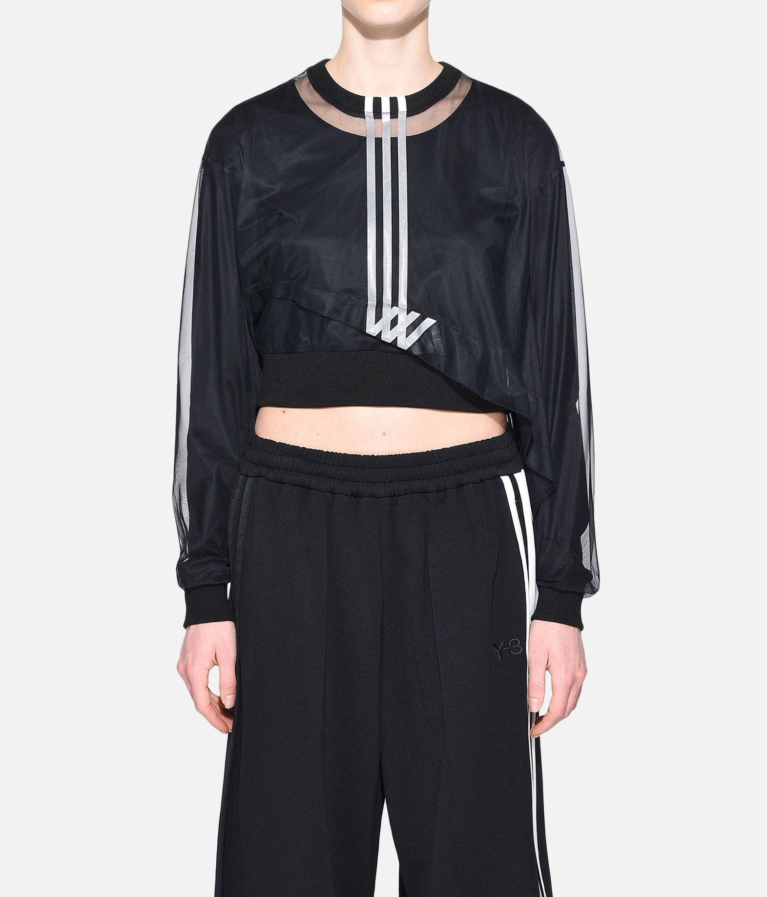 Y-3 Y-3 3-Stripes Mesh Cropped Tee Long sleeve t-shirt Woman r