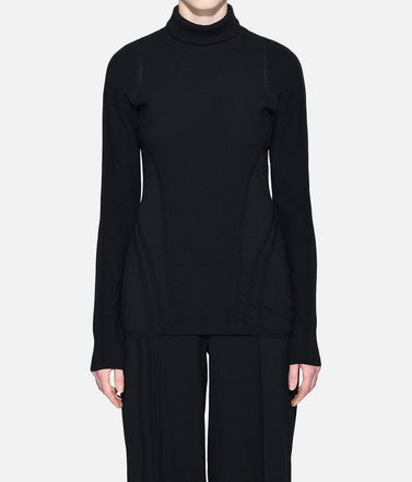 Y-3 Long sleeve t-shirt Woman Y-3 Tech Wool High Neck Tee r