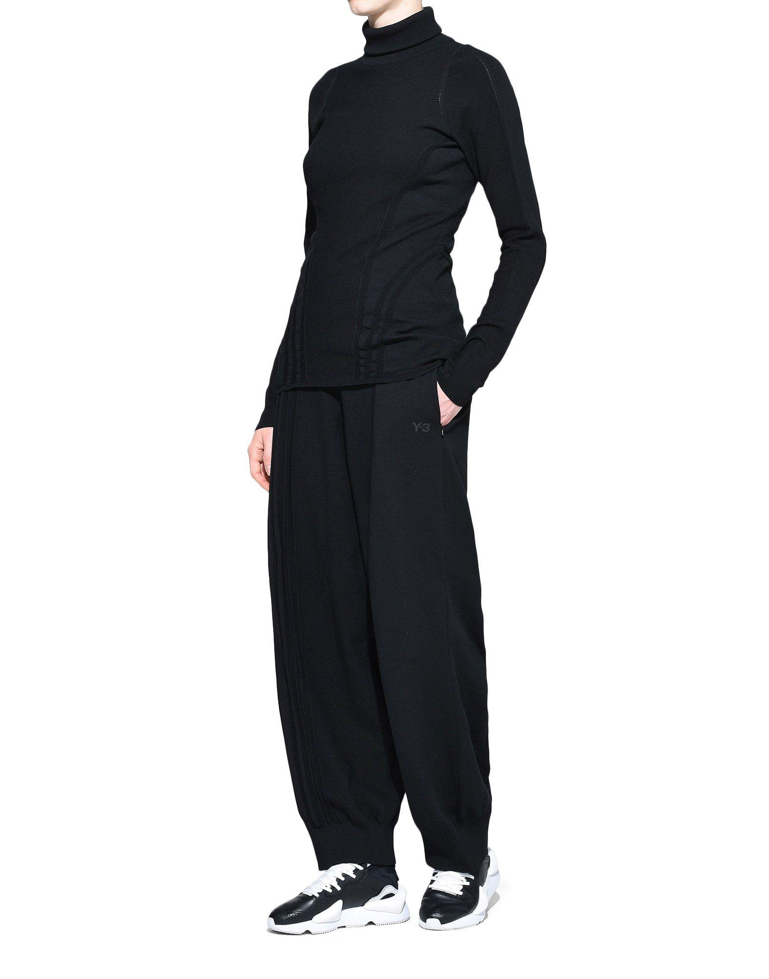 Y-3 Y-3 Tech Wool High Neck Tee Long sleeve t-shirt Woman a