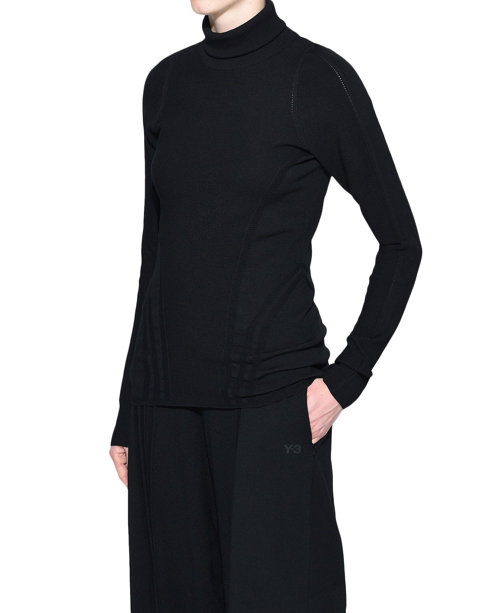 Y-3 Y-3 Tech Wool High Neck Tee Long sleeve t-shirt Woman e