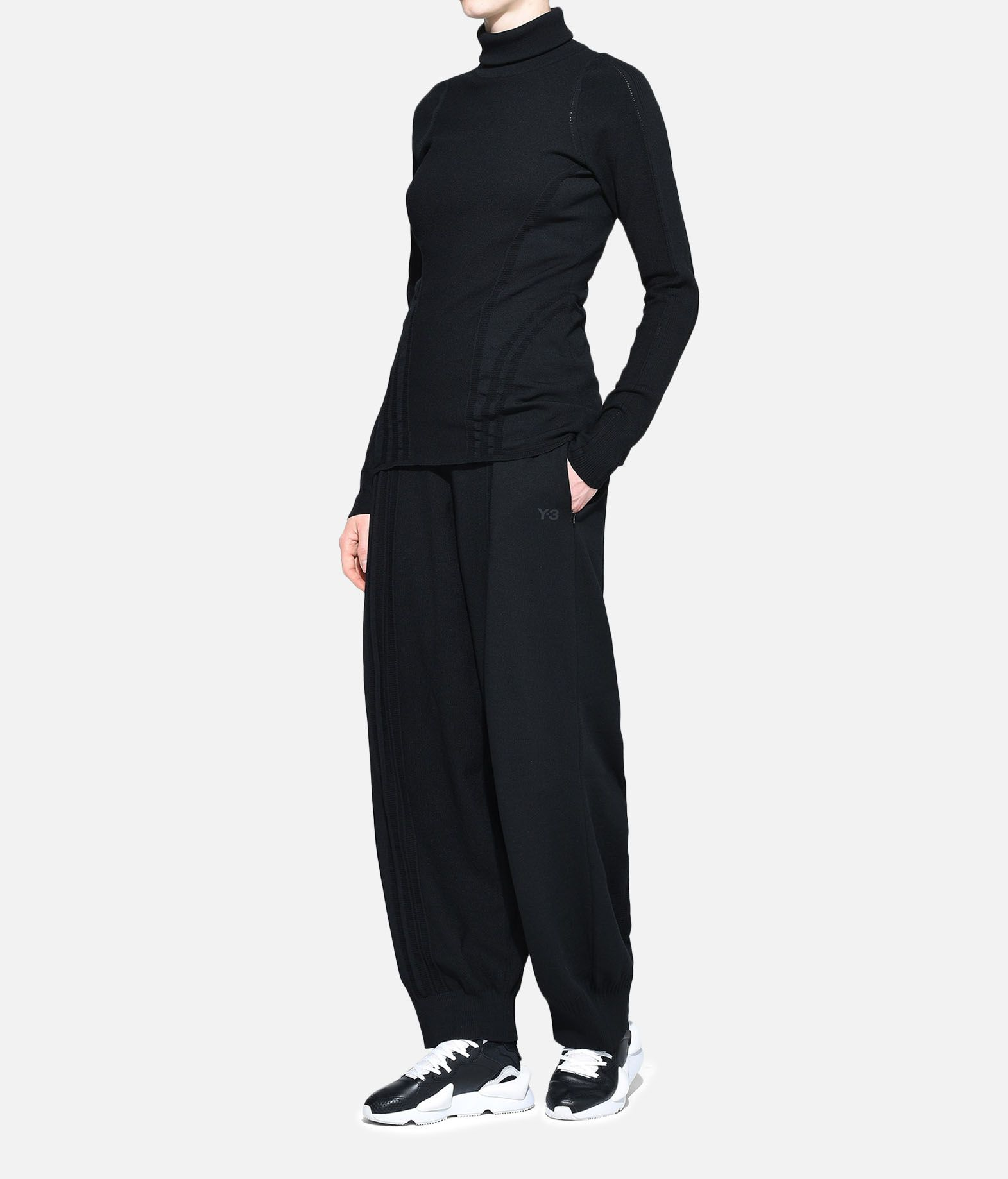 Y-3 Y-3 Tech Wool High Neck Tee Long sleeve t-shirt Woman a