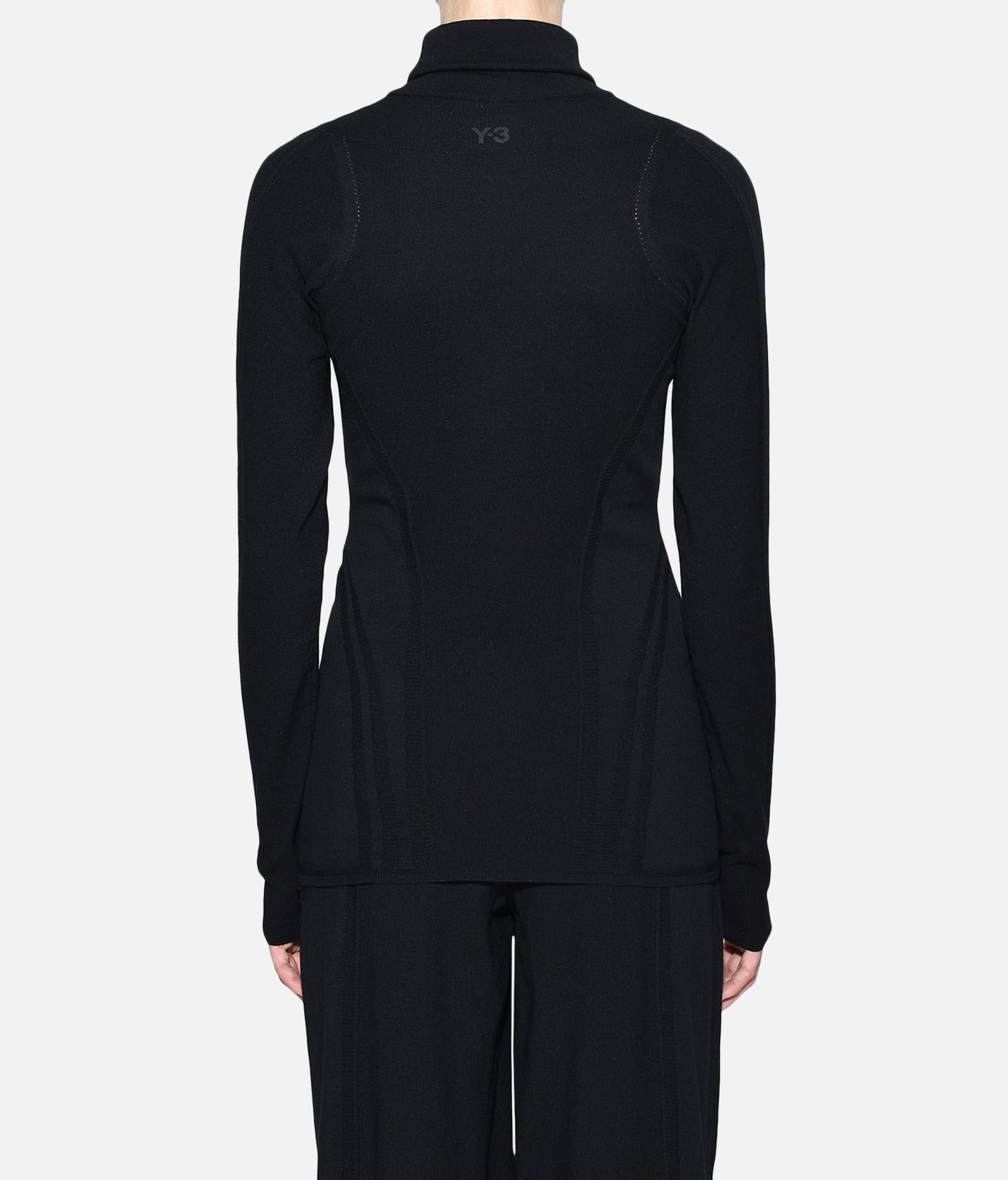 Y-3 Y-3 Tech Wool High Neck Tee Long sleeve t-shirt Woman d