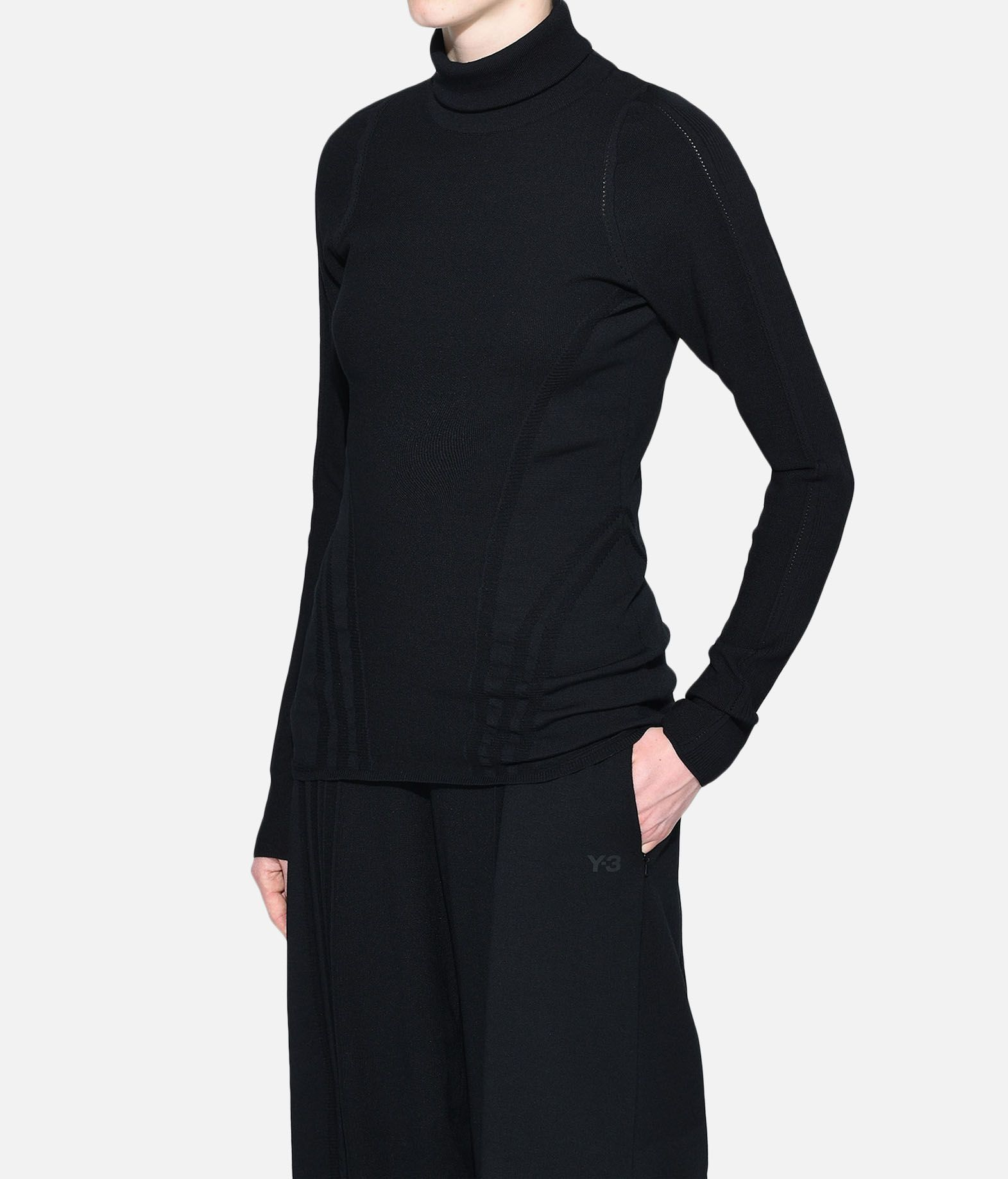 Y-3 Y-3 Tech Wool High Neck Tee Long sleeve t-shirt Woman e
