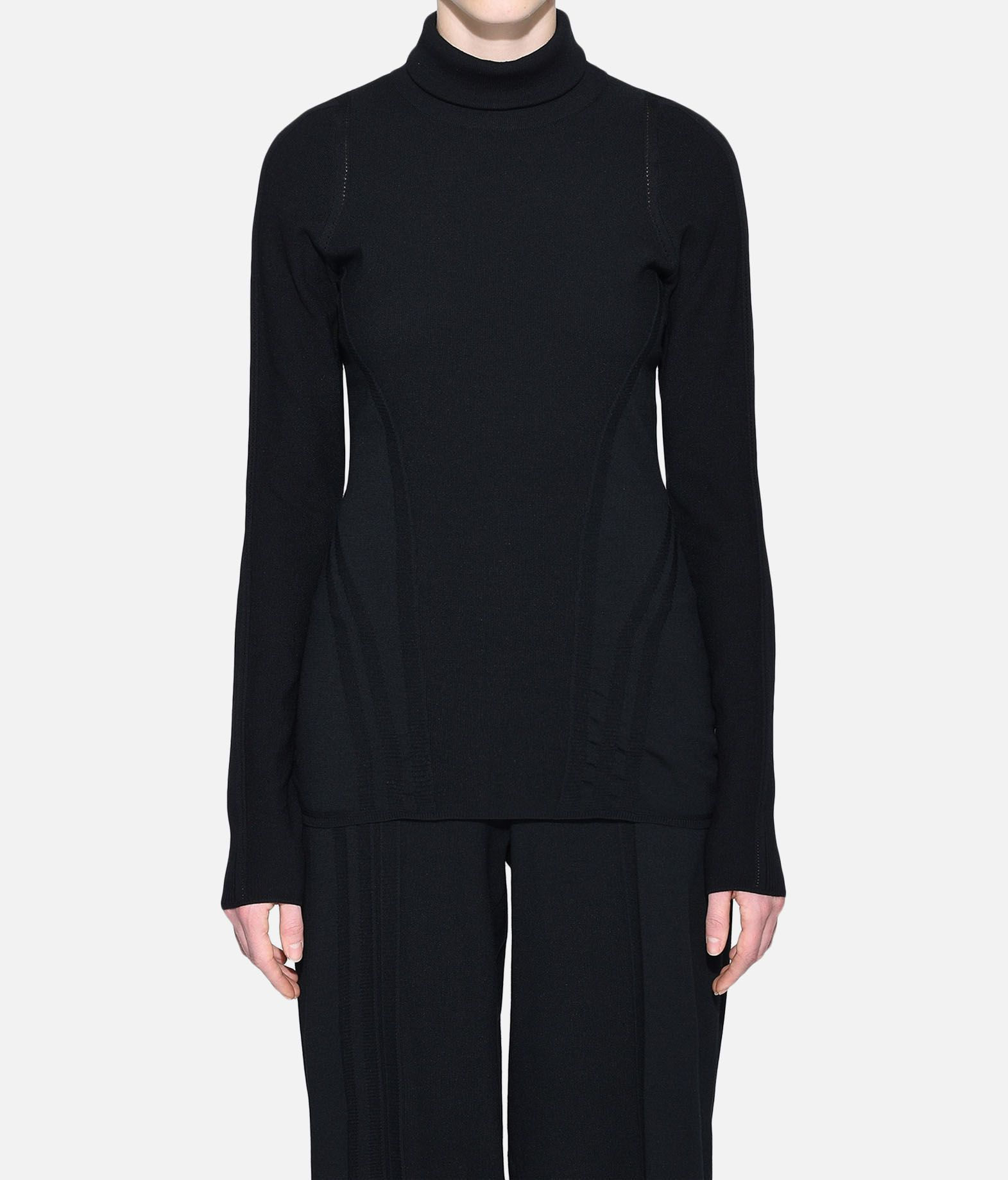 Y-3 Y-3 Tech Wool High Neck Tee Long sleeve t-shirt Woman r