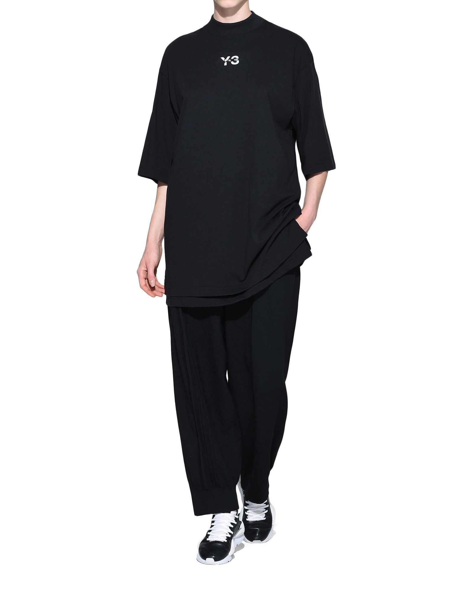 Y-3 Y-3 Signature Long Tee Short sleeve t-shirt Woman a