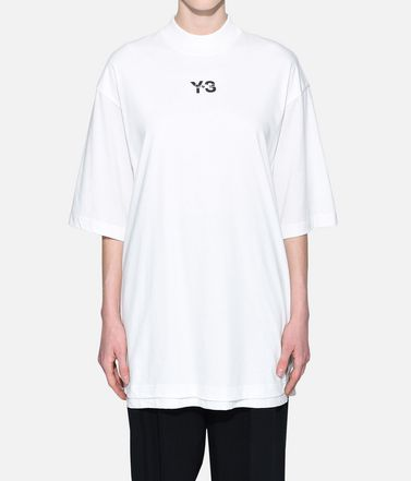 Y-3 Short sleeve t-shirt Woman Y-3 Signature Long Tee r