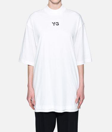 Y-3 T シャツ レディース Y-3 Signature Long Tee r