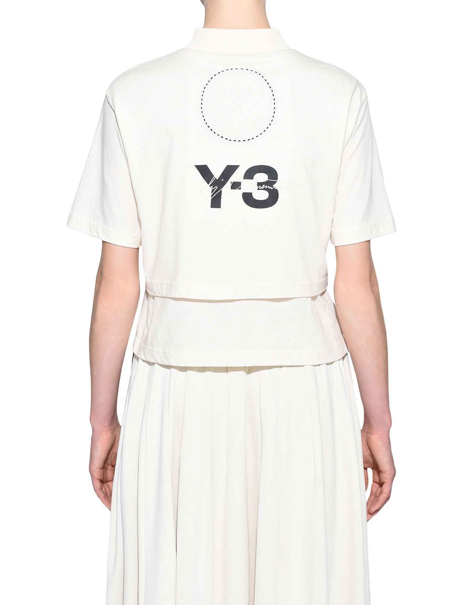 Y-3 Y-3 Stacked Logo Cropped Tee T シャツ レディース d