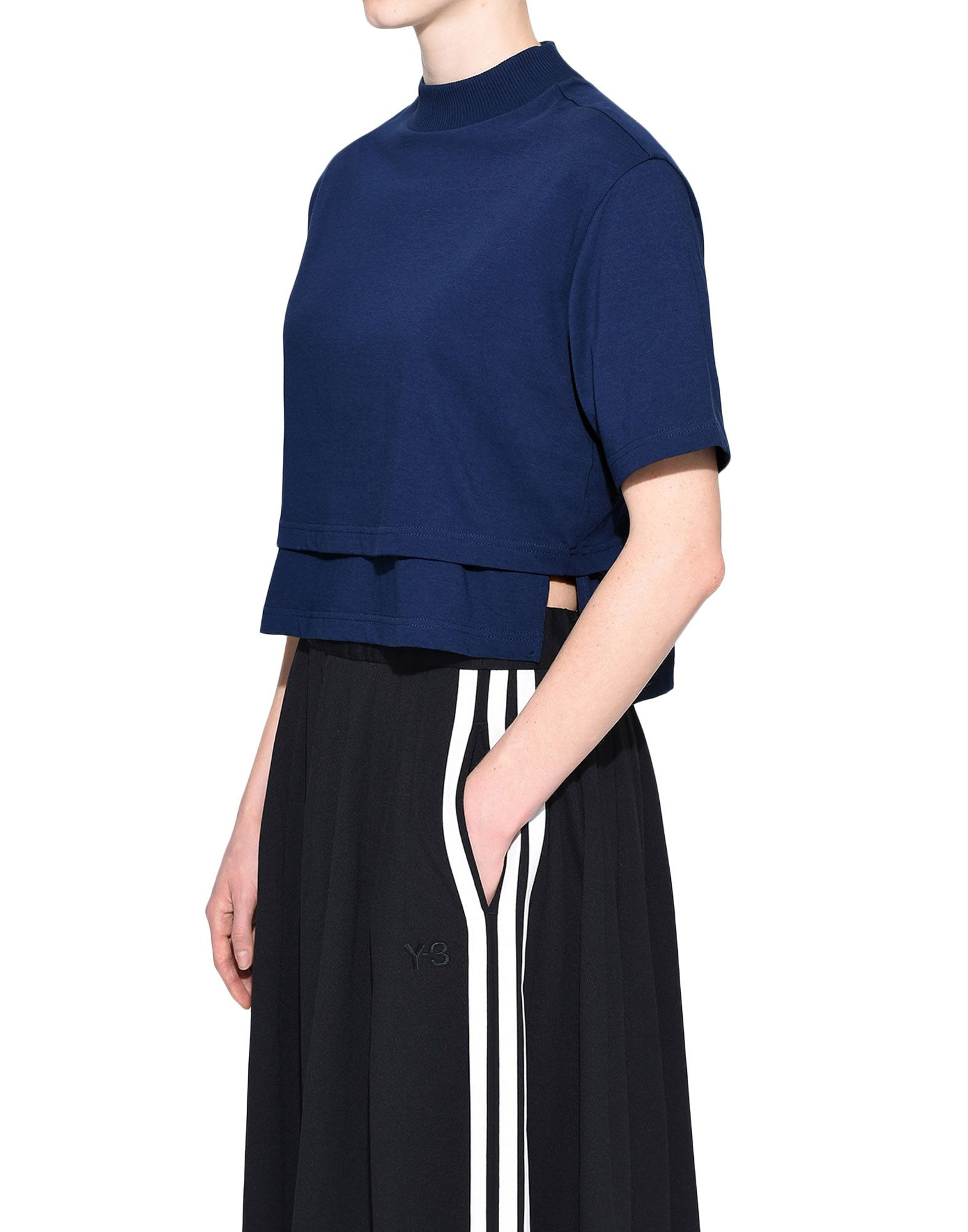 Y-3 Y-3 Stacked Logo Cropped Tee Short sleeve t-shirt Woman e