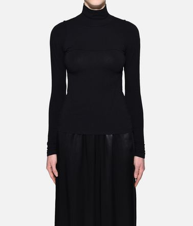 Y-3 Long sleeve t-shirt Woman Y-3 Prime Wool Tee r