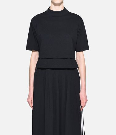 Y-3 Short sleeve t-shirt Woman Y-3 Stacked Logo Cropped Tee r