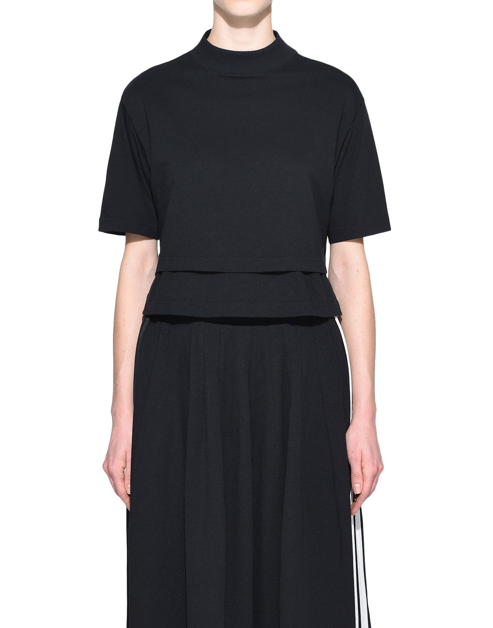 Y-3 Y-3 Stacked Logo Cropped Tee Short sleeve t-shirt Woman r