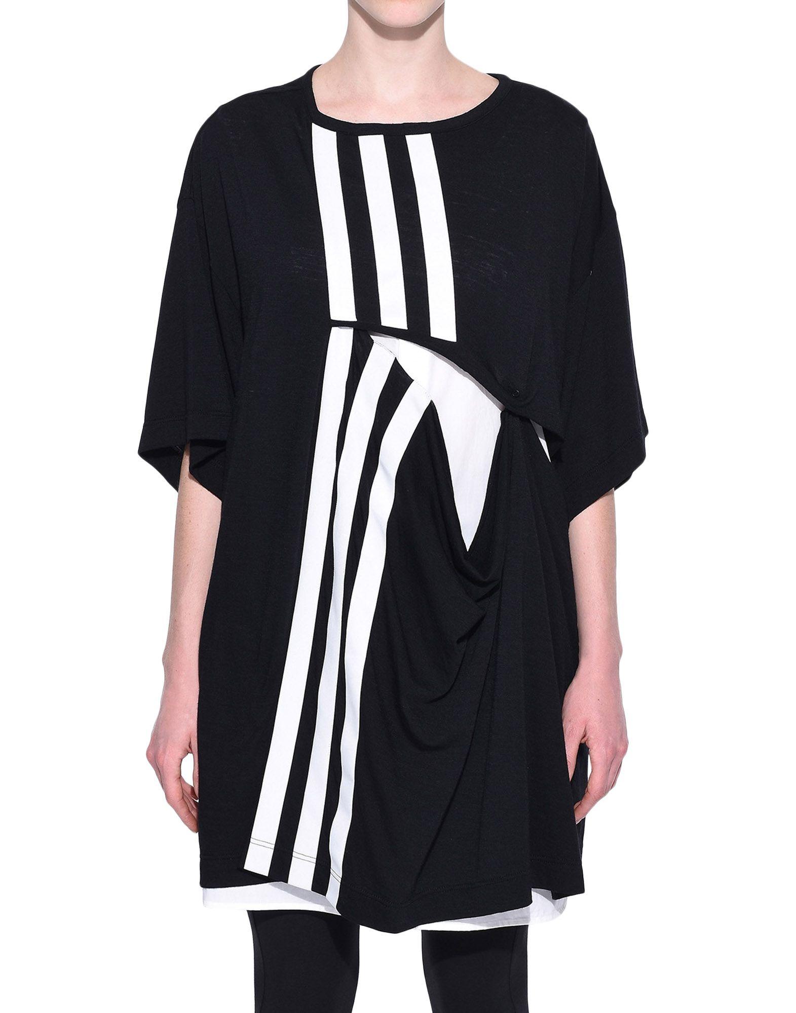 Y-3 Y-3 3-Stripes Layered Tee Short sleeve t-shirt Woman r