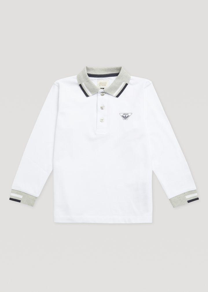 71bffdbdaf Polo Shirt With Contrast Trims | Kid | Armani Junior