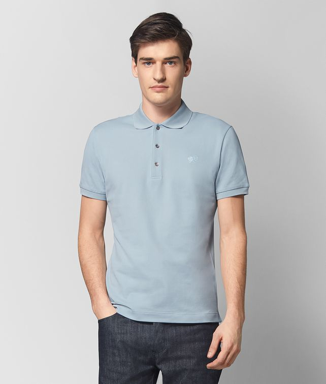 BOTTEGA VENETA DARK ARCTIC COTTON T-SHIRT Polo And Tee Man fp
