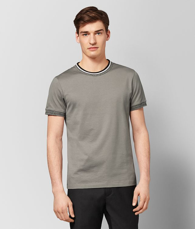 BOTTEGA VENETA DARK CEMENT COTTON T-SHIRT T-Shirt and Polo [*** pickupInStoreShippingNotGuaranteed_info ***] fp