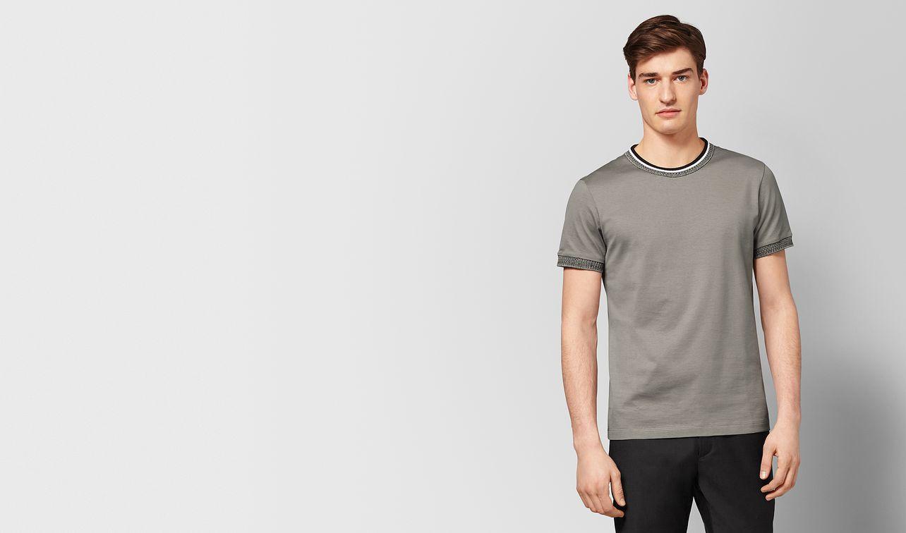t-shirt in cotone dark cement landing