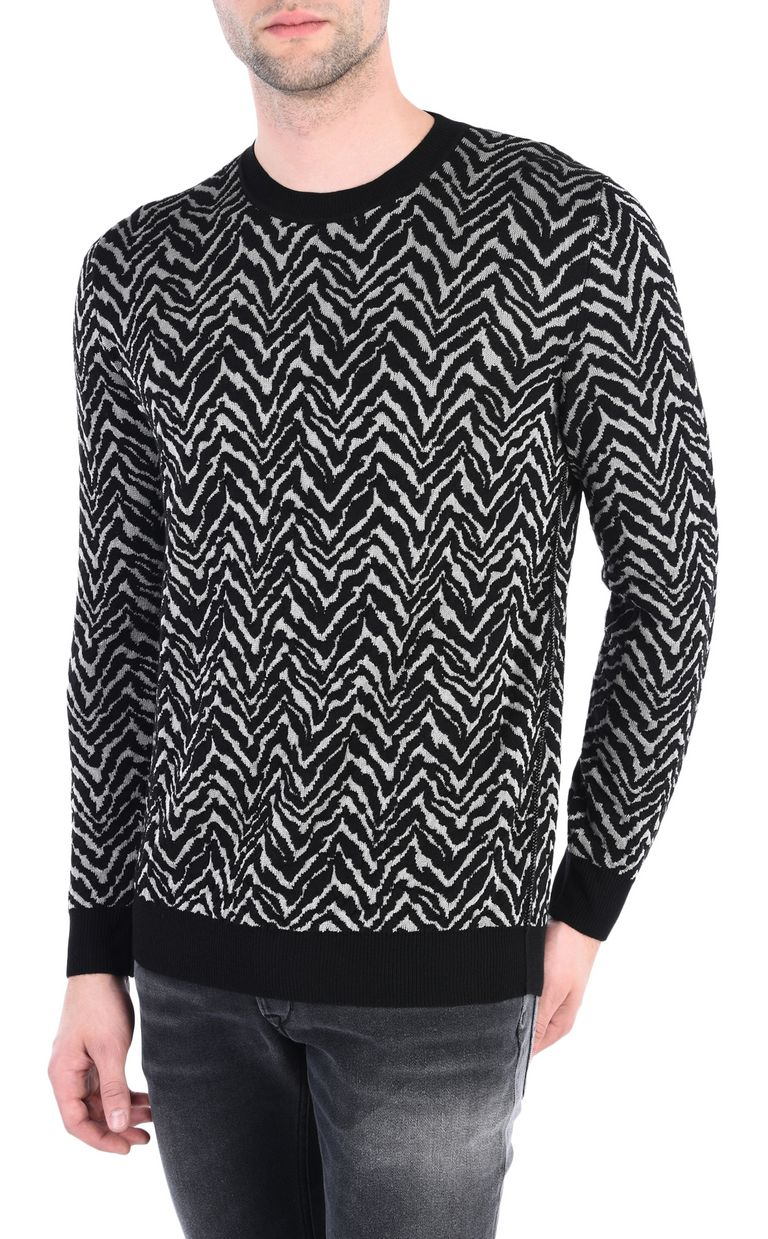 JUST CAVALLI Crew-neck jacquard pullover Crewneck sweater [*** pickupInStoreShippingNotGuaranteed_info ***] f