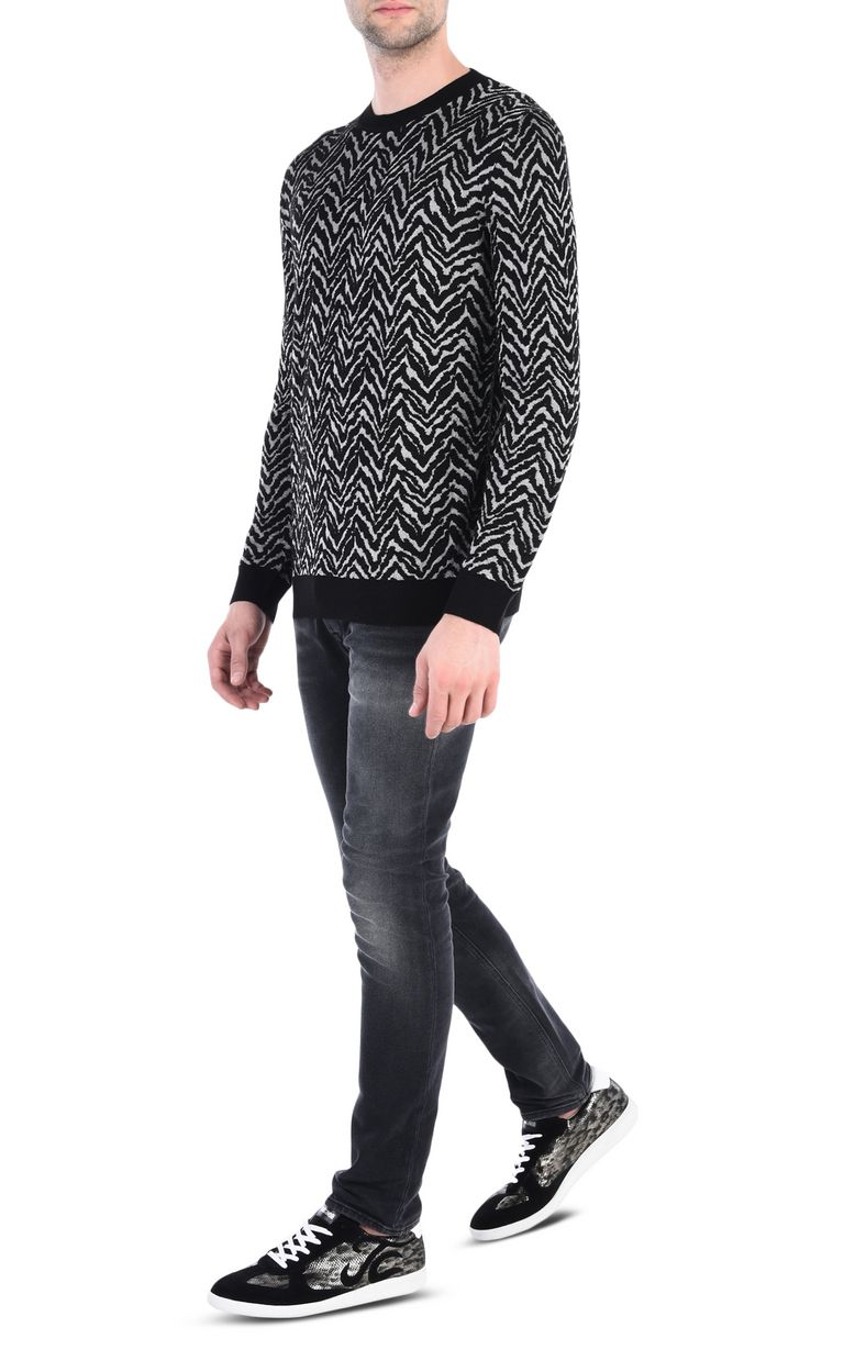 JUST CAVALLI Crew-neck jacquard pullover Crewneck sweater [*** pickupInStoreShippingNotGuaranteed_info ***] r