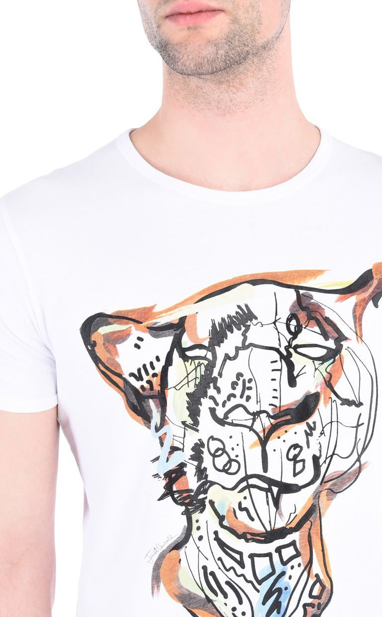 JUST CAVALLI Intarsia Leo T-shirt Short sleeve t-shirt [*** pickupInStoreShippingNotGuaranteed_info ***] e