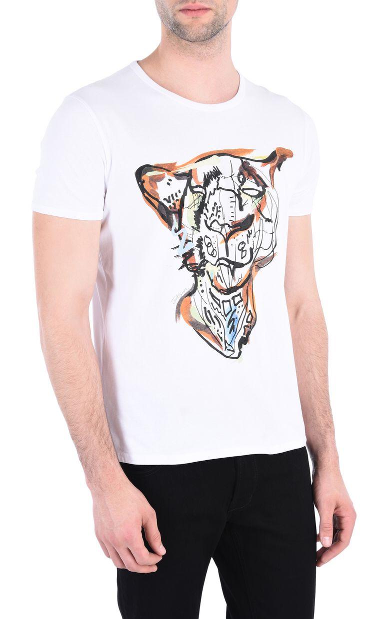 JUST CAVALLI Intarsia Leo T-shirt Short sleeve t-shirt [*** pickupInStoreShippingNotGuaranteed_info ***] f