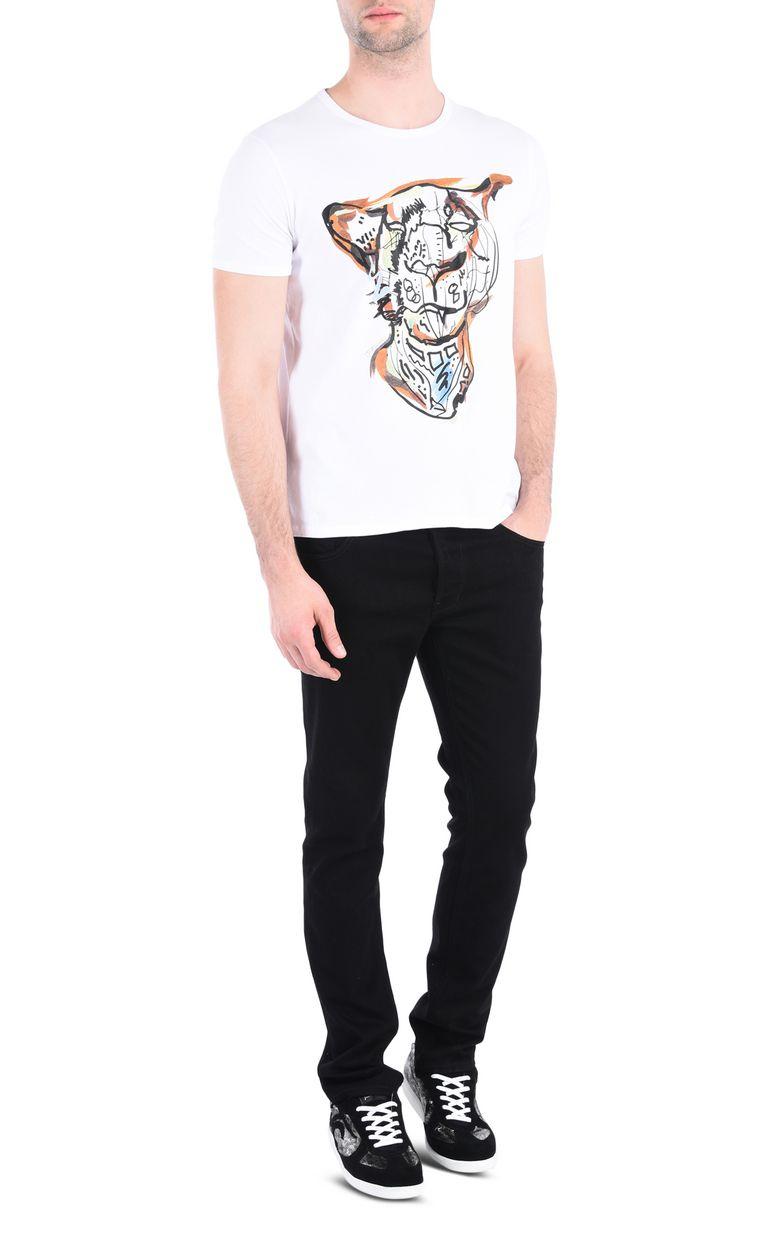 JUST CAVALLI Intarsia Leo T-shirt Short sleeve t-shirt [*** pickupInStoreShippingNotGuaranteed_info ***] r