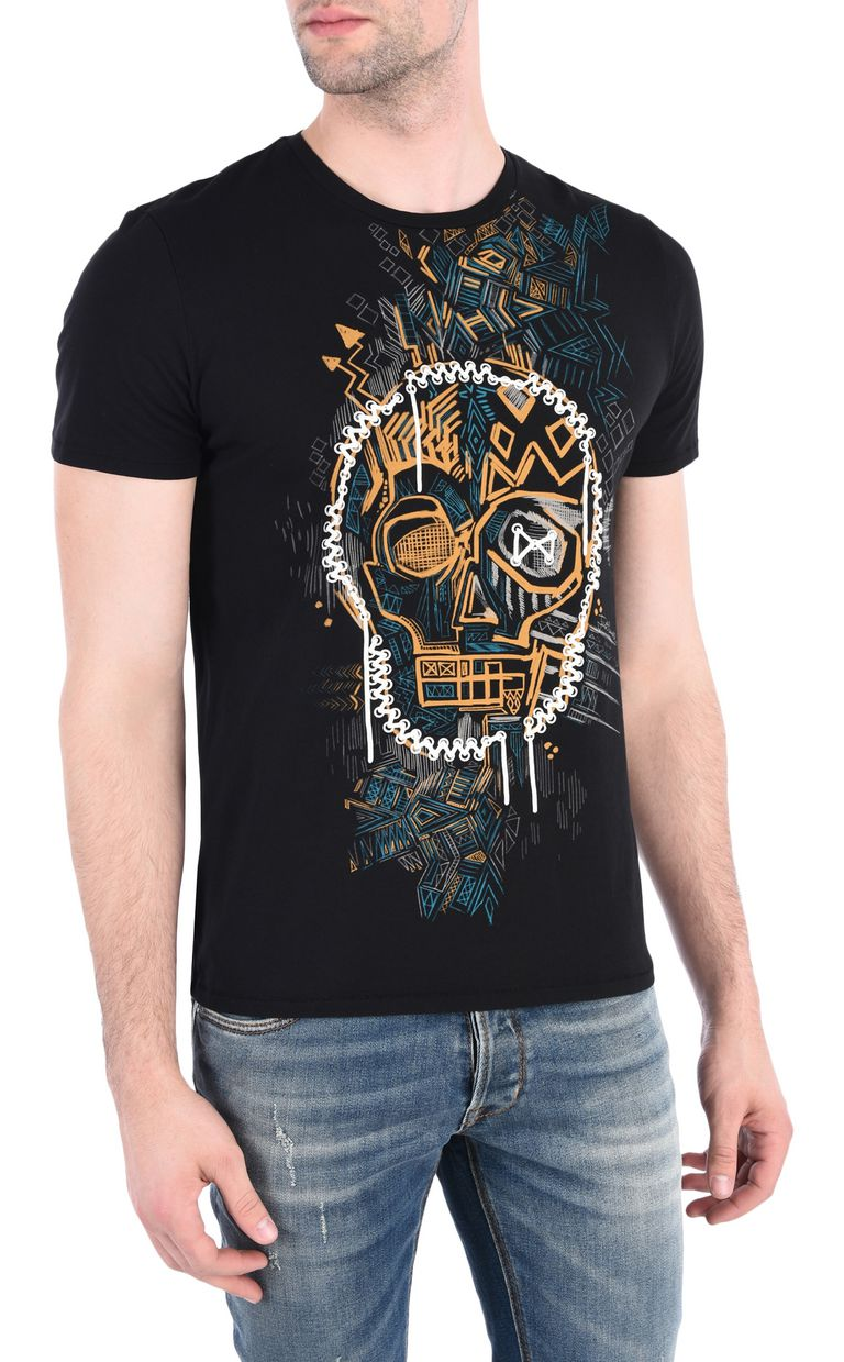 JUST CAVALLI Skull graffiti T-shirt Short sleeve t-shirt [*** pickupInStoreShippingNotGuaranteed_info ***] f