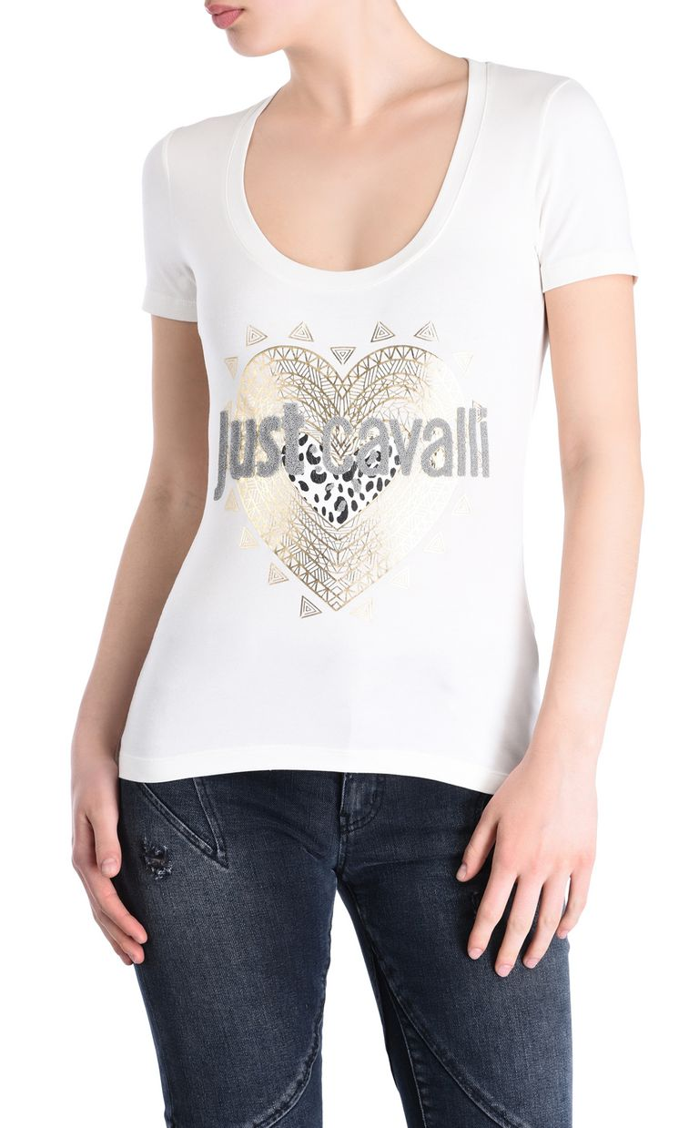 JUST CAVALLI Just Cavalli heart T-shirt Short sleeve t-shirt [*** pickupInStoreShipping_info ***] f