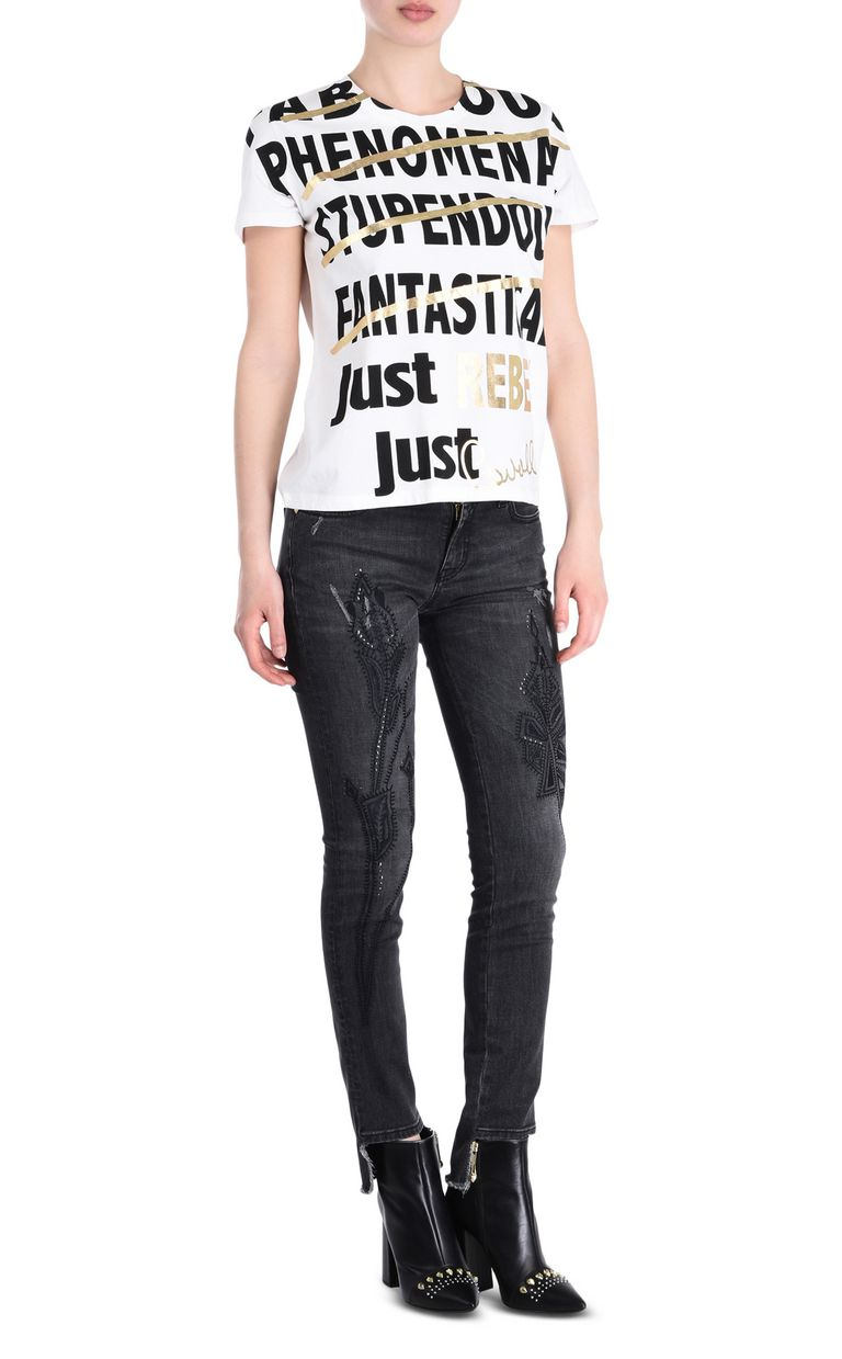JUST CAVALLI REBEL T-shirt Short sleeve t-shirt Woman r