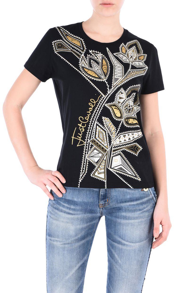 JUST CAVALLI Flower T-shirt Short sleeve t-shirt [*** pickupInStoreShipping_info ***] f