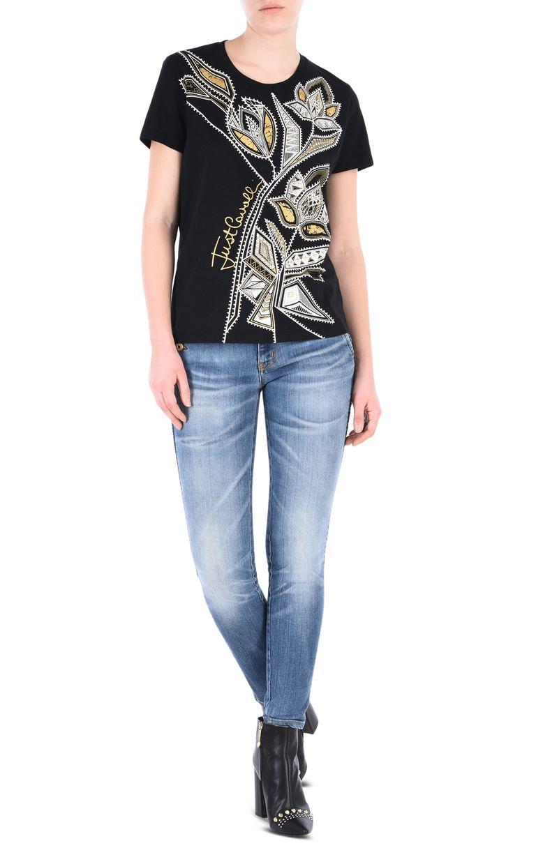 JUST CAVALLI Flower T-shirt Short sleeve t-shirt [*** pickupInStoreShipping_info ***] r