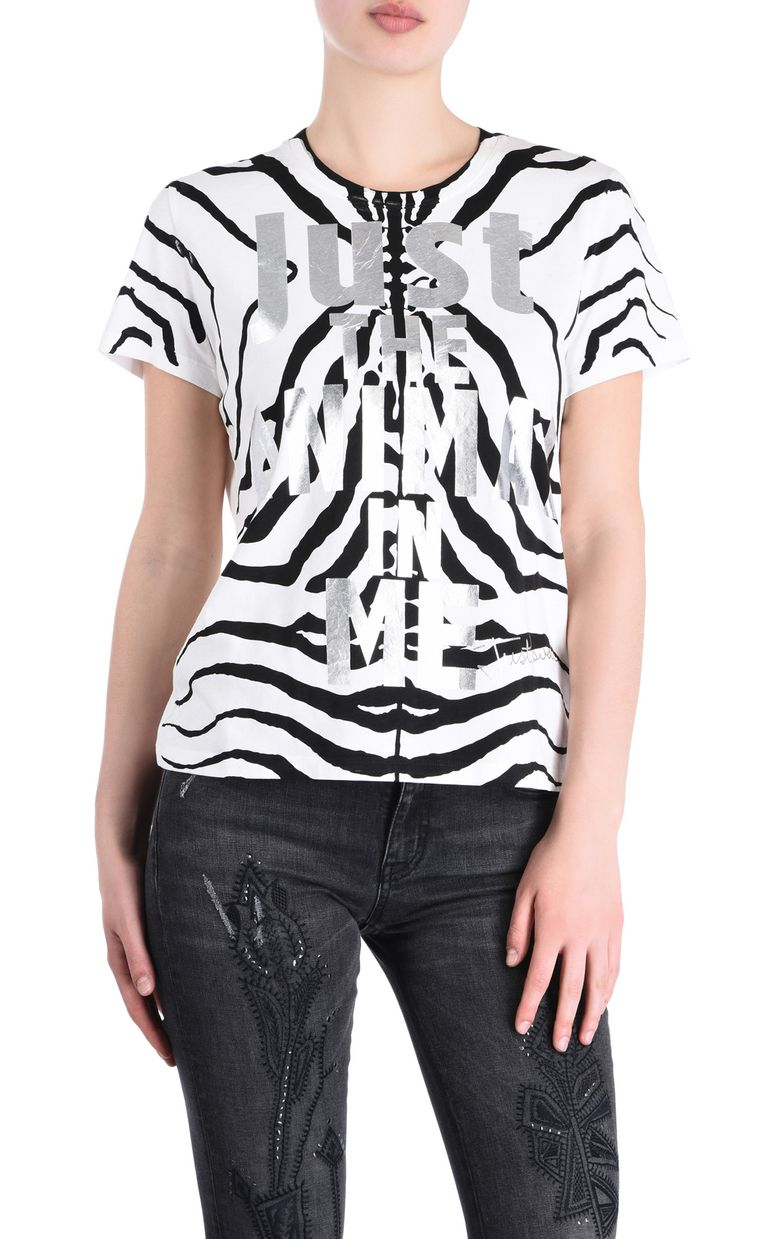 JUST CAVALLI Zebra T-shirt Short sleeve t-shirt Woman f