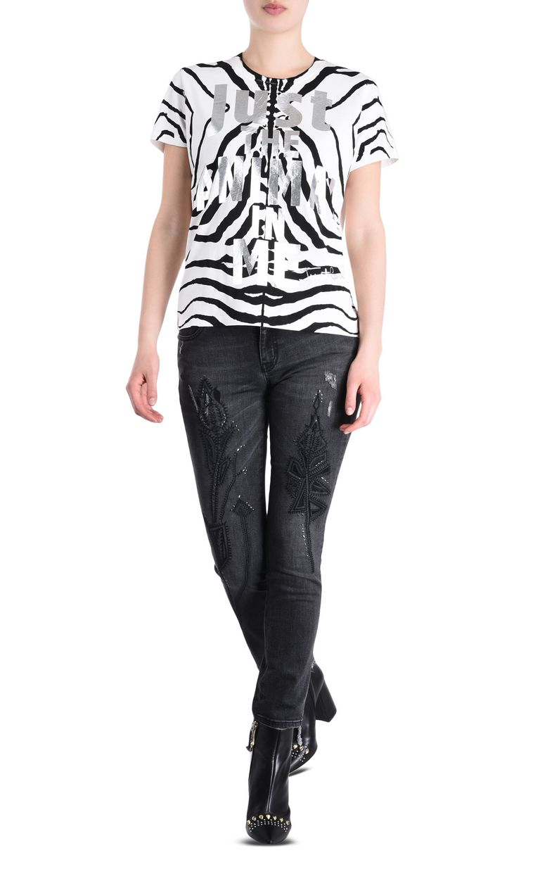 JUST CAVALLI Zebra T-shirt Short sleeve t-shirt [*** pickupInStoreShipping_info ***] r