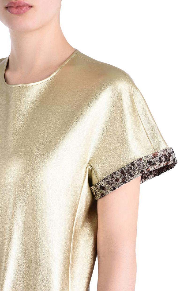 JUST CAVALLI Short-sleeve bronze-tone top Top Woman e