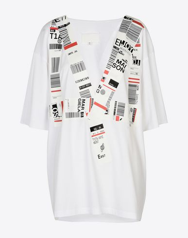 MAISON MARGIELA Luggage tag T-shirt Short sleeve t-shirt Woman f