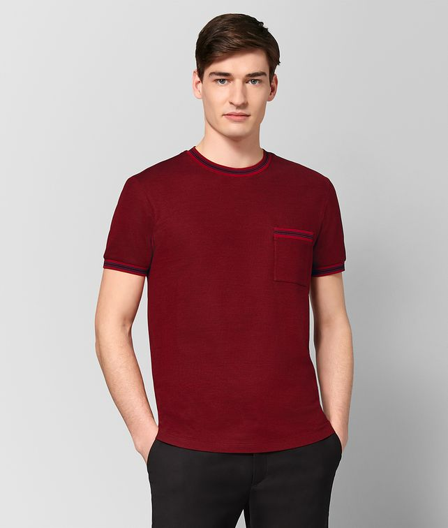 BOTTEGA VENETA CHINA RED COTTON T-SHIRT Polo And Tee Man fp