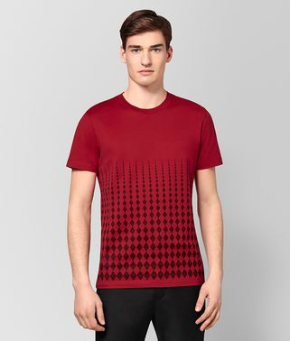 T-SHIRT IN COTONE CHINA RED