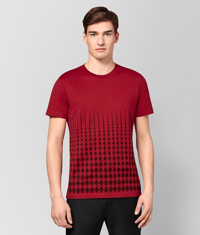 BOTTEGA VENETA CHINA RED COTTON T-SHIRT Polo And Tee [*** pickupInStoreShippingNotGuaranteed_info ***] fp