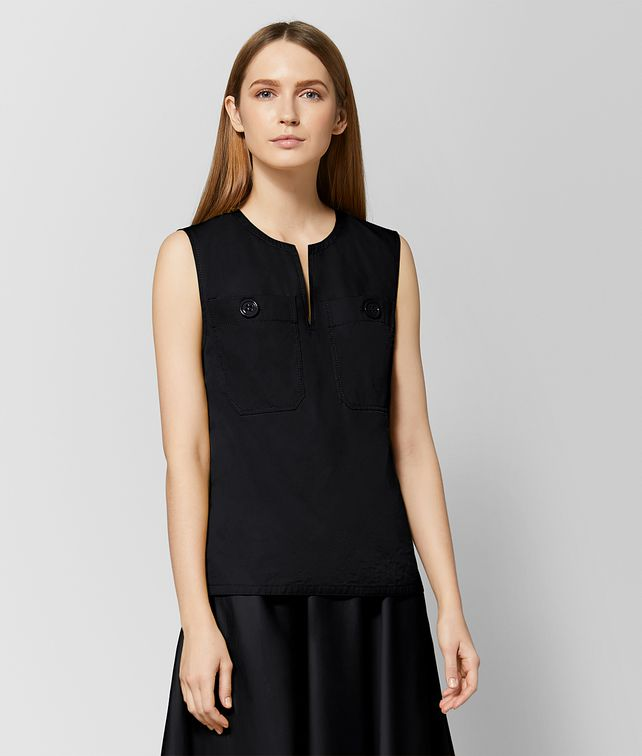 BOTTEGA VENETA NERO COTTON TOP Knitwear or Top or Shirt Woman fp