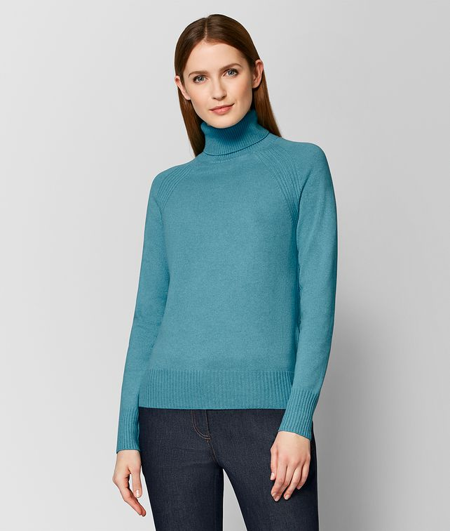 BOTTEGA VENETA AQUA CASHMERE SWEATER Knitwear or Top or Shirt [*** pickupInStoreShipping_info ***] fp