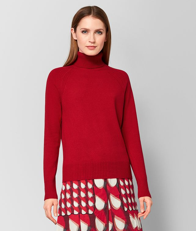 BOTTEGA VENETA RED CASHMERE SWEATER Knitwear or Top or Shirt Woman fp