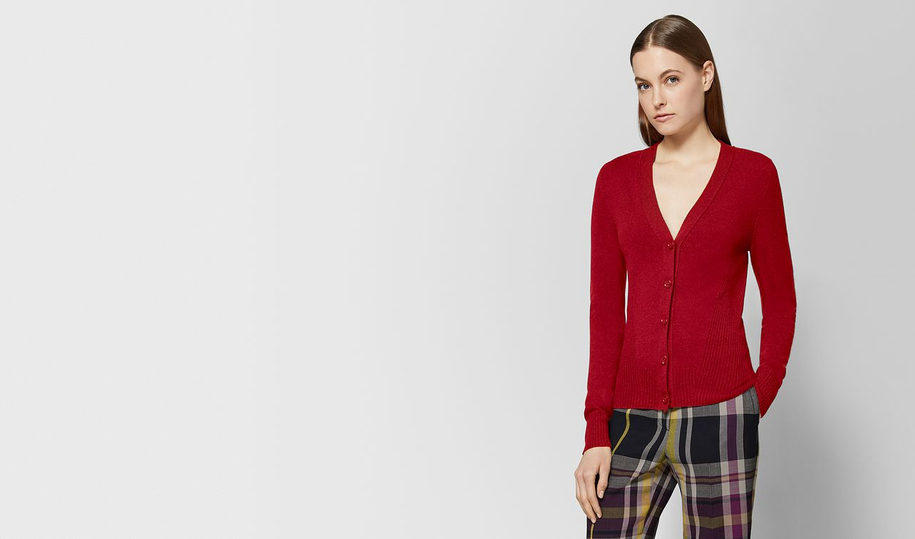 maglia in cashmere red landing