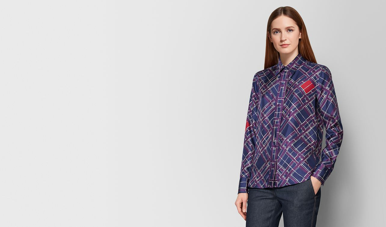 multicolor silk shirt landing