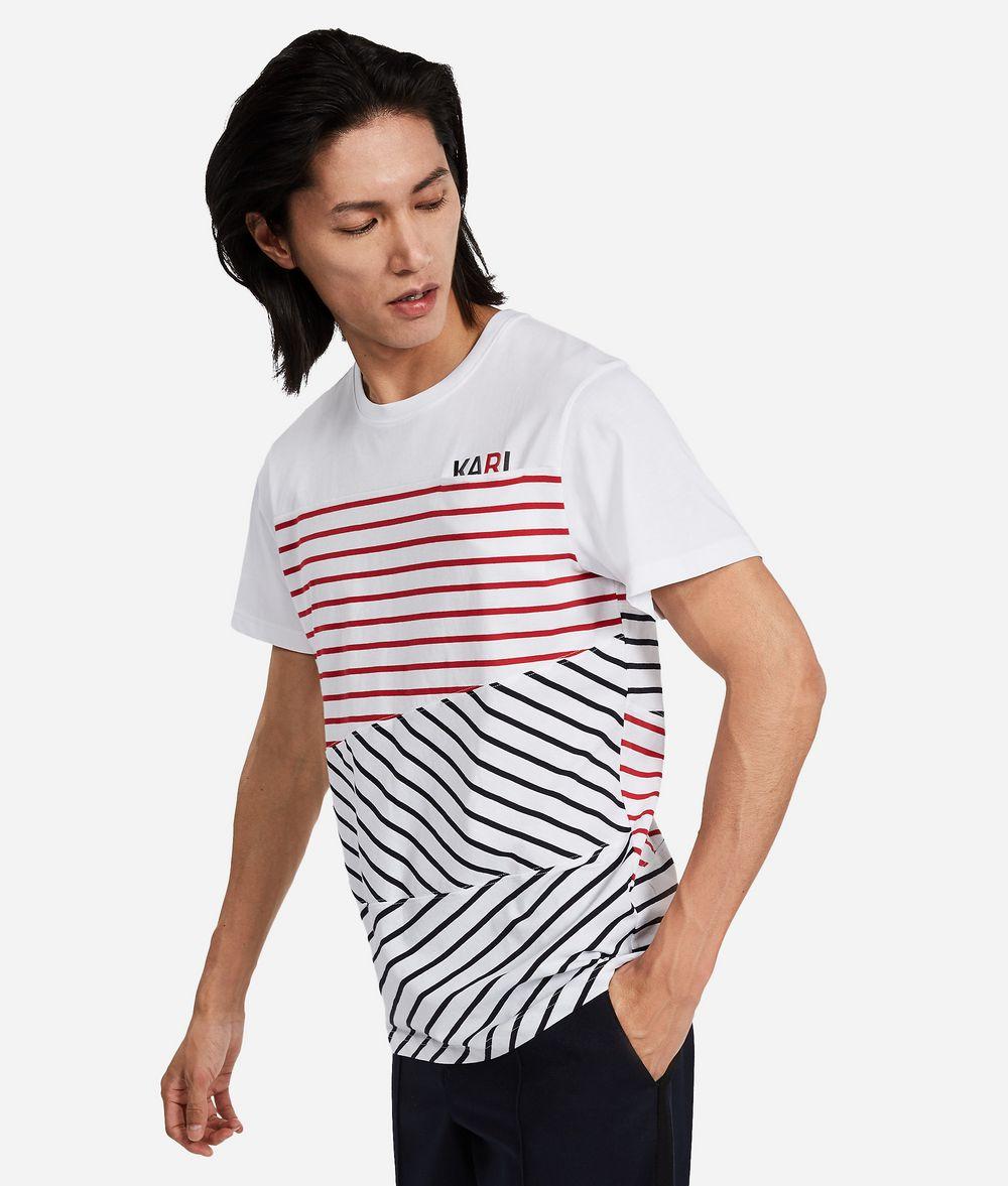KARL LAGERFELD Contrast Stripe T-Shirt T-shirt Man d