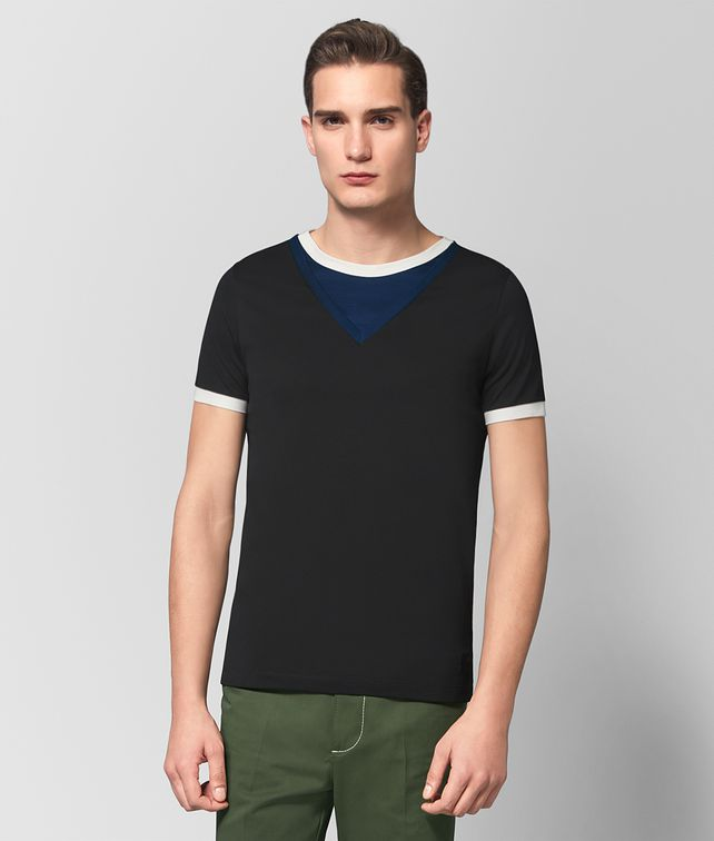 BOTTEGA VENETA MULTICOLOR COTTON T-SHIRT Polo And Tee [*** pickupInStoreShippingNotGuaranteed_info ***] fp